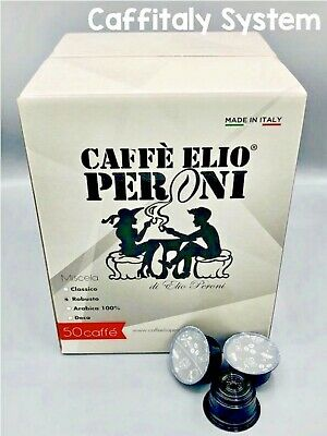 300 capsules compatibles, CAFFITALY SYSTEM Caffè Elio Peroni, mélange Robusta.