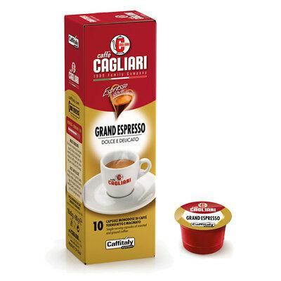 100 Capsules Caffitaly System Caffe 'Cagliari Grand Espresso Dolce E Delicato