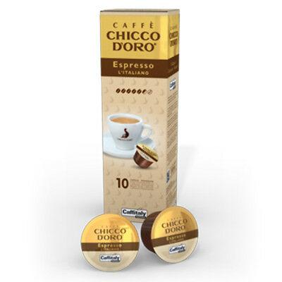 100 Capsules Caffitaly System Caffe 'Chicco D'oro Espresso L'italiano Break Shop