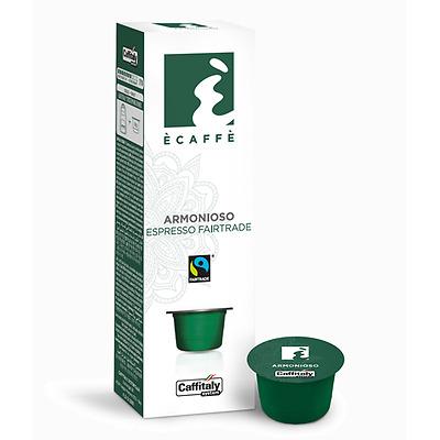 100 Capsules Caffe 'Caffitaly System Ecaffe' Espresso Harmonieux Fairtrade