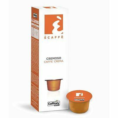 100 Capsules Caffe 'Caffitaly System Ecaffe' Cremoso Espresso Crema Break Shop