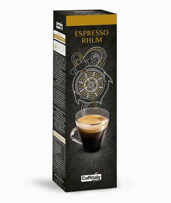 100 capsules de café Cagliari Caffitaly system Espresso Rhum