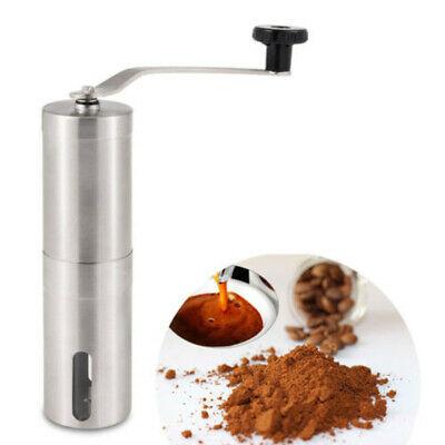 Moulin à café manuel avec coupeur portatif et réglable conique d'acier inoxydable