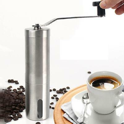 (EU) Manuel professionnel portable en acier inoxydable pour moulin à café