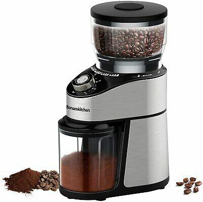 Moulin à café électrique Bonsenkitchen avec lames en acier inoxydable 200W 230gr