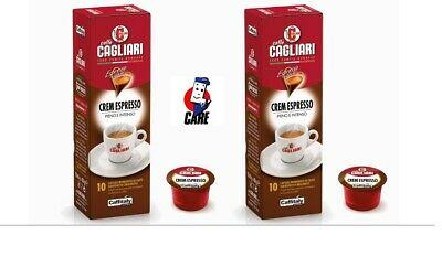 100 capsules de café Cagliari Caffitaly system Crem Espresso café complet et intense