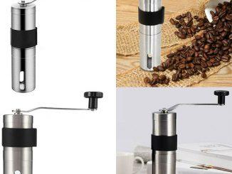 POUR ESPRESSO Cafetière Moulin à café Mini manuel portable en acier inoxydable - EUR 8,84