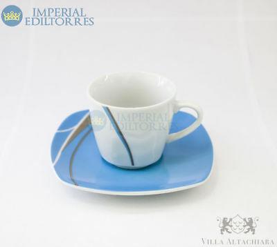 Tasses à Café + Soucoupe Porcelaine Collection Sally Villa Altachiara