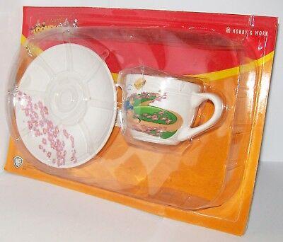 À la table avec Looney Tunes - Ensemble soucoupe et tasse à café - Porky Pig & Pétunia