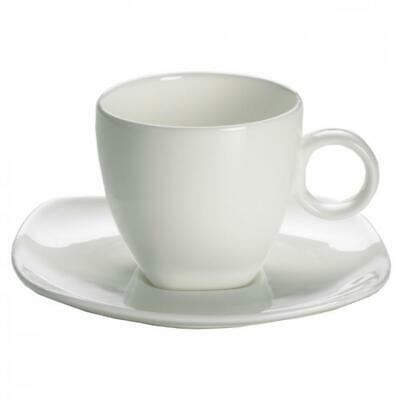 Maxwell & Williams Cashmere, Tasse à Espresso avec Soucoupe, Porcelaine Blanche 110ml
