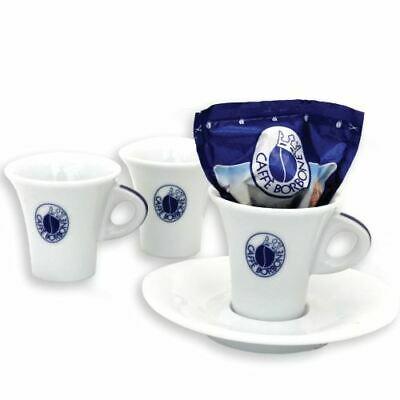 Ensemble de 6 tasses en céramique avec soucoupe à café en bourbon