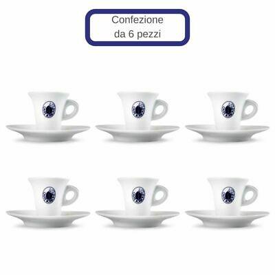 Ensemble de 6 tasses à café en porcelaine Bourbon avec soucoupe