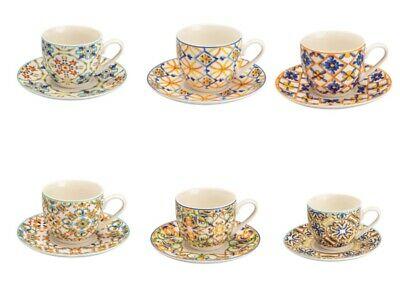 Brandani Set 6 tasses à café avec soucoupe Medicea