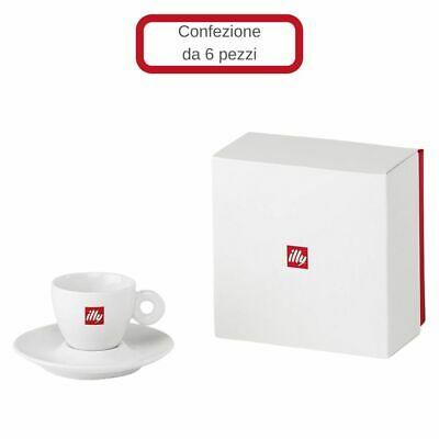 Ensemble de 6 tasses à café en porcelaine Illy avec soucoupe
