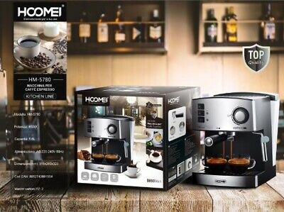 Machine à expresso et cappuccino professionnelle automatique HOOMEI 850W