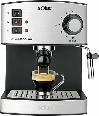 Solac CE4480 Machine à café expresso 19 BAR Evaporateur 850 W 1,25 L Acier