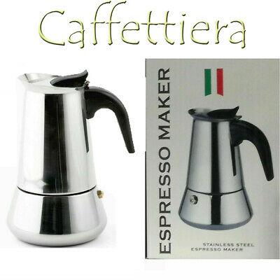 Moka Cafetière Espresso Maker 4 tasses en acier inoxydable DFH J