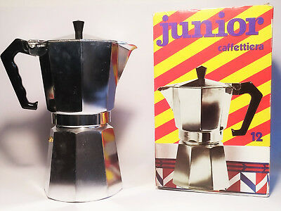 "Grande machine à café made in Italy Moka espresso 12 tasses vintage ""Junior express"""