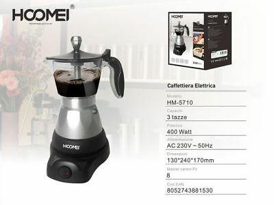 Cafetière électrique Moka 400W pour machine à café moulu 3 tasses
