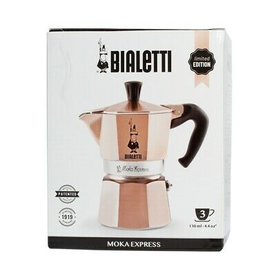 "BIALETTI Cafetière espresso ""Moka Express"" or rose, 3 tasses, édition limitée"
