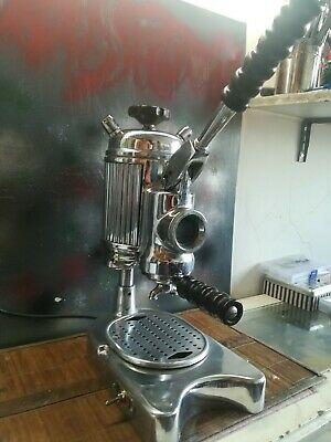Faema Faemina Pefessionale Machine à Café Levier Première Version Poignées Marron