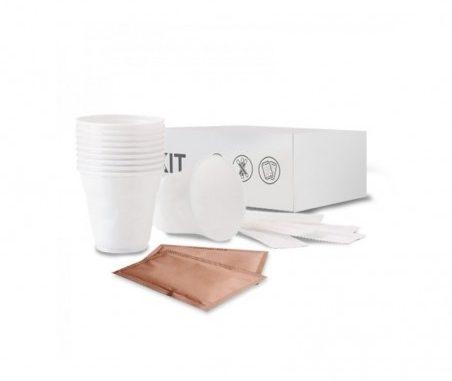 Kit d'accessoires café de 150 pièces avec cassonade
