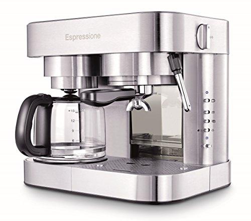 Machine à expresso et cafetière Espressione en acier inoxydable, 1,5 L