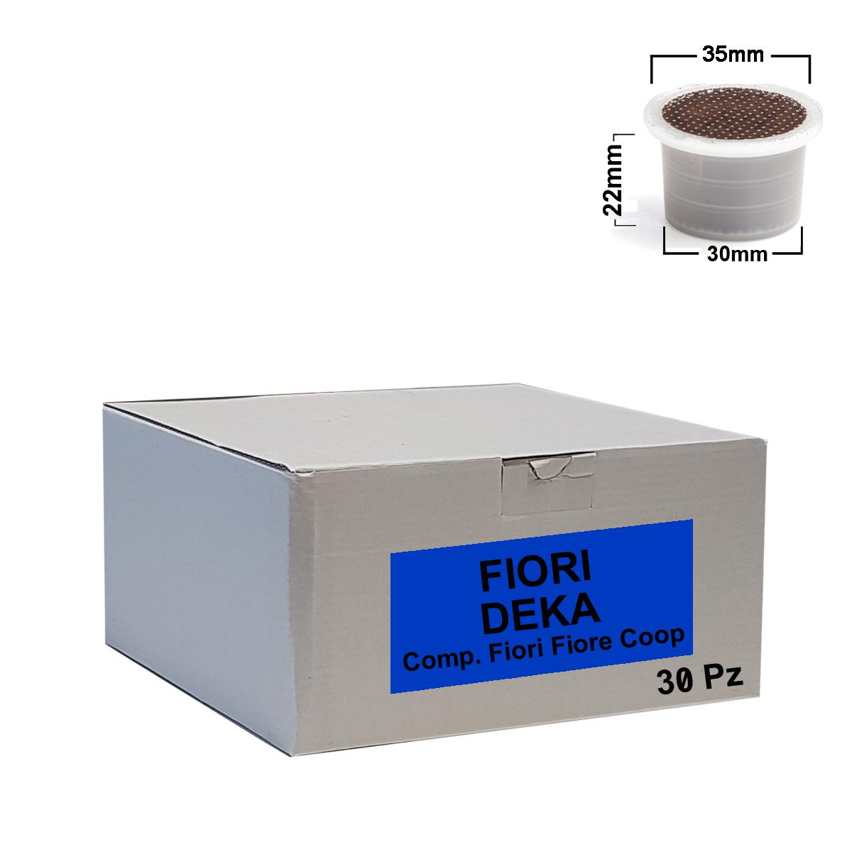 Capsules de café FLEURS décaféinées 50pcs - Comp.Fior Fiore Coop, Martello