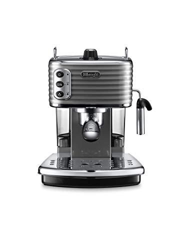 De'Longhi Scultura ECZ351.GY Machine à expresso et cappuccino manuelle, café en poudre ou pointes E.S.E., 1100 W, gris