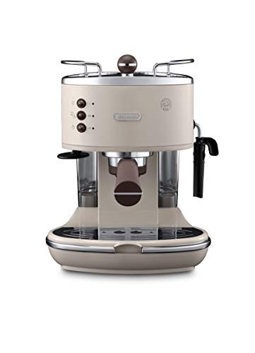De'Longhi Icona Vintage ECOV 311.BG Machine à expresso et cappuccino manuelle, café en poudre ou capsules E.S.E., 1100 W, beige