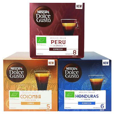 Nescafé Dolce Gusto Café Capsules Pérou Honduras Mexique Colombie Longue Boîte De 12