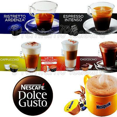 Nescafé Dolce Gusto Coffee Pods Capsules Latte Espresso Nesquik Boîte De 16 Pcs