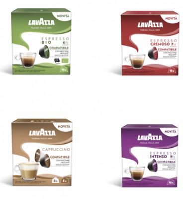 96 capsules LAVAZZA dosettes de café compatibles nescafé DOLCE GUSTO MIX DE VOTRE CHOIX