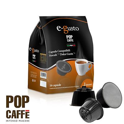 Capsules compatibles Dolce Gusto Nescafé Pop Caffe M.1 Intense Dolcegusto 96 Pcs