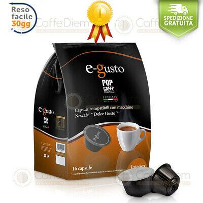 Capsules Pods compatibles Nescafé * Dolce Gusto Pop Coffee 320 intense .1 E-Gusto