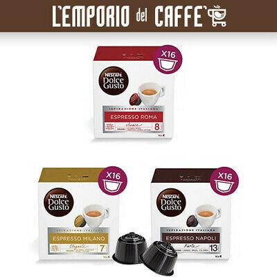 48 capsules Nescafé Dolce Gusto 100% Original CHOIX Naples-Milan-Rome