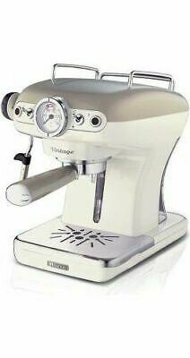 Dosettes de café et machine à poudre Ariete Espresso Cappuccino Beige Vintage 13891