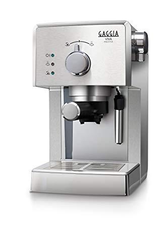 Machine à café expresso manuelle Gaggia RI8437 / 11 Viva Prestige, pour moulu et dosettes, 1025W, acier inoxydable