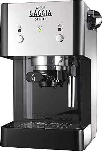 Machine à expresso manuelle Gaggia GranGaggia Deluxe Black, pour café moulu et dosettes, 15 bars, couleur noire, RI8425 / 11