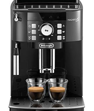 De'Longhi Magnifica S ECAM21.110.B Machine à café automatique pour expresso et cappuccino, grains de café ou poudre, 1450 W, noir