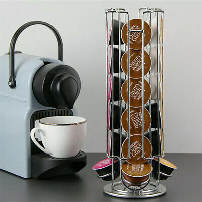 Support de support de stockage de capsule de tour de dosettes en métal pour Nespresso