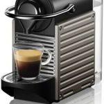 Krups Nespresso XN304TK Pixie - Machine à expresso, recettes programmables, 1260 W, Titan, 0,7 litre