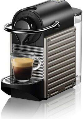 Photo de Krups Nespresso XN304TK Pixie - Machine à expresso, recettes programmables, 1260 W, Titan, 0,7 litre