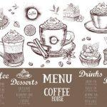 Menu de la maison du café. Menu de café de restaurant, conception de modèle. Flyer alimentaire. Image 148463565.