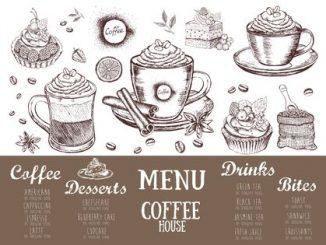 Coffee house menu. Restaurant cafe menu, template design. Food flyer. Archivio Fotografico - 148463565