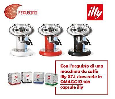X7.1 Machine à café Illy Toutes les couleurs + 108 capsules gratuites Illy Caffè