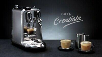 Machine à expresso en acier inoxydable Creatista Plus Nespresso en métal nouveau