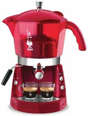 Mokona Bialetti Cf40 Machine à café expresso trivalent rouge transparent 1050W