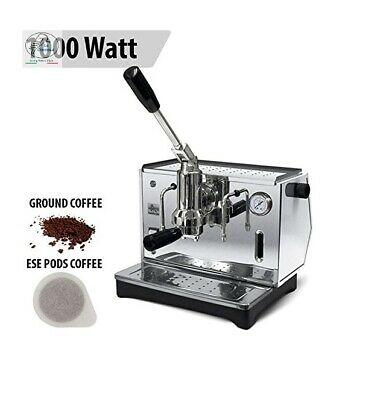 Machine à café expresso chromée de luxe Pontevecchio avec manomètre