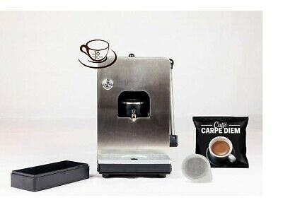 Machine à dosettes de café Alpha + 50 dosettes de café Carpe Diem de Toraldo en hommage